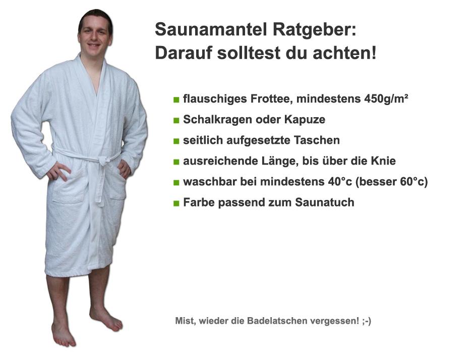 Saunamantel Ratgeber